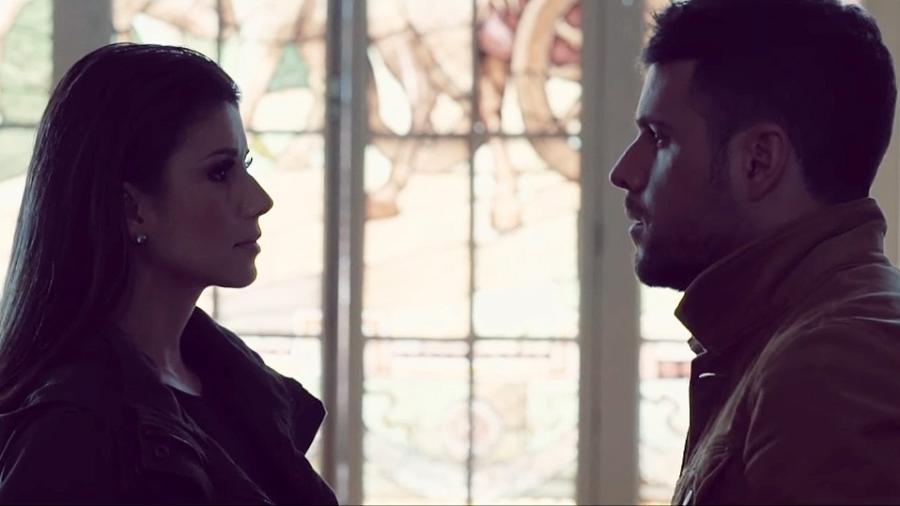 """Paula Fernandes e Pablo López em cena do clipe """"Dos Palabras"""" - Reprodução"""