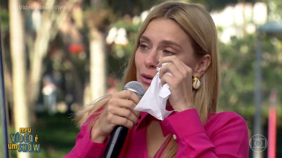 """Carolina Dieckmann se emociona no """"Vídeo Show"""" ao rever cenas de novelas - Reprodução/Globo"""