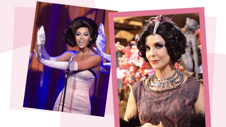 """Beyoncé atuando em """"Dreamgirls"""" e Ivete, em """"Gabriela"""" - Arte UOL/AP/Divulgação/Globo"""