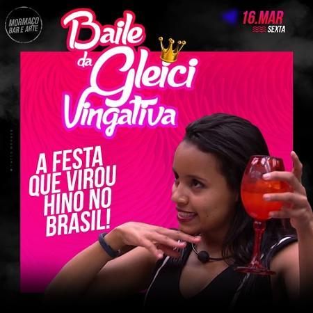 """Bar promove """"Baile da Gleici Vingativa"""" e quer levar sister após """"BBB18"""" - Reprodução/mormaco.net"""