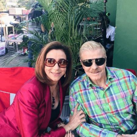 """Marisa Orth e Miguel Falabella nas gravações do filme """"Sai de Baixo"""" - Reprodução/Instagram"""