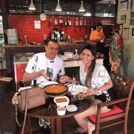 Frank Aguiar e Caroline Santos em Fernando de Noronha - Reprodução/Instagram