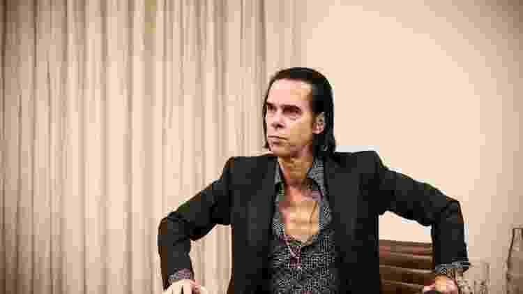 Nick Cave durante entrevista em São Paulo - Lucas Lima/UOL