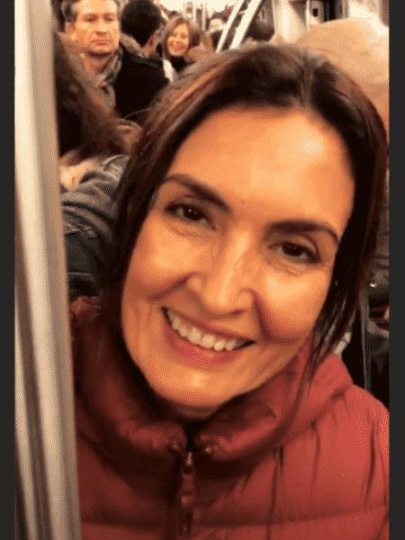 Fátima Bernardes pega metrô cheio em Paris, na França - Reprodução/Instagram