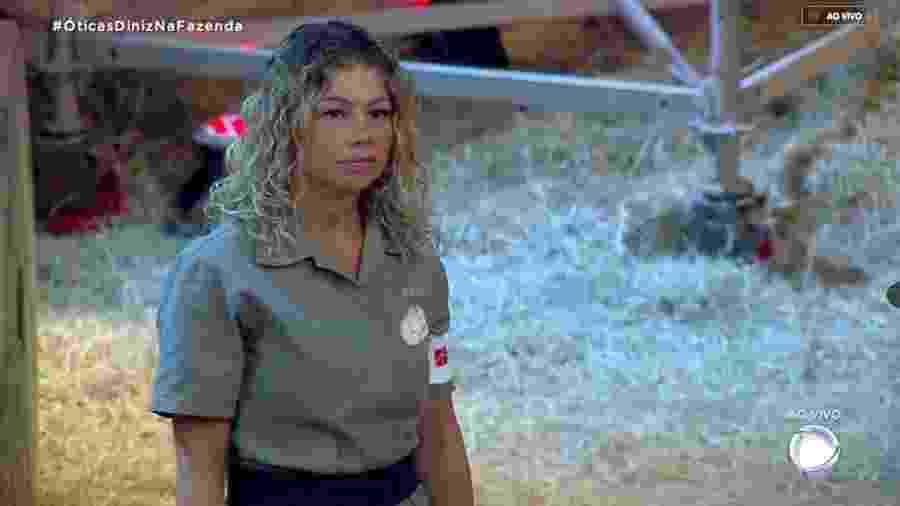 """Catia Paganote em """"A Fazenda 10"""" - Reprodução/RecordTV"""