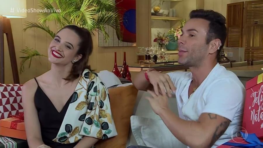"""Juliana Paiva e Matheus Mazzafera no """"Vídeo Show"""" - Reprodução / TV Globo"""