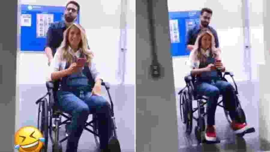 Ticiane Pinheiro de cadeira de rodas - Reprodução/Instagram