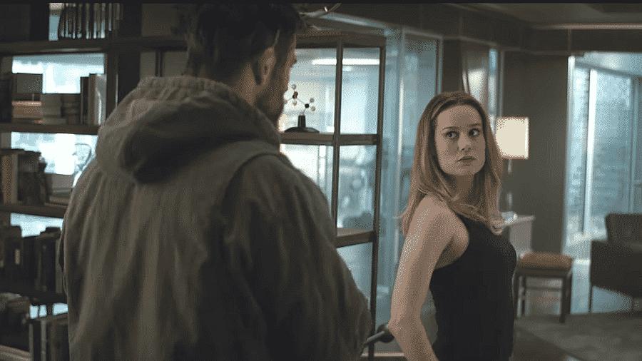 """Capitã Marvel conhece Thor em trailer de """"Vingadores: Ultimato"""" - Reprodução"""