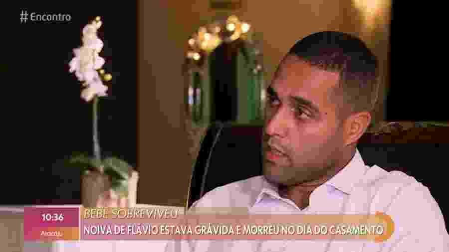 Flávio Gonçalves da Costa durante entrevista ao Encontro com Fátima Bernardes - Reprodução/TV Globo