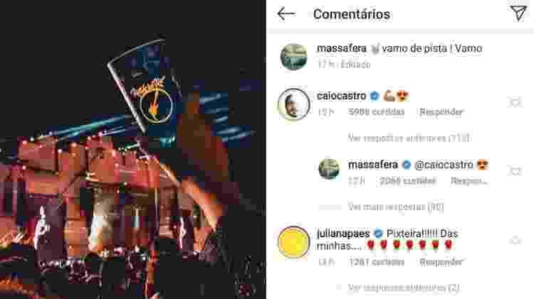 """Grazi Massafera e Caio Castro trocam emojis """"apaixonados"""" no Instagram - Reprodução/Instagram"""
