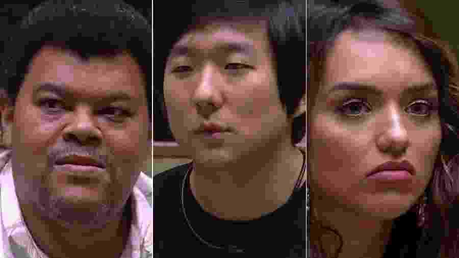 Babu, Pyong e Rafa estão no paredão - Reprodução/TV Globo