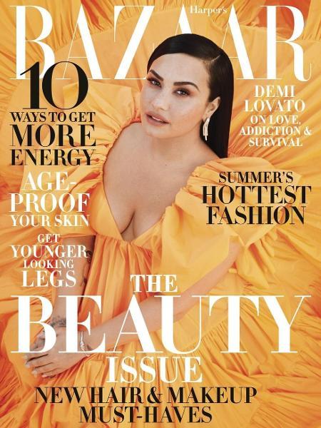 """Demi Lovato na capa da edição de maio da revista Harper""""s Bazaar - Divulgação"""