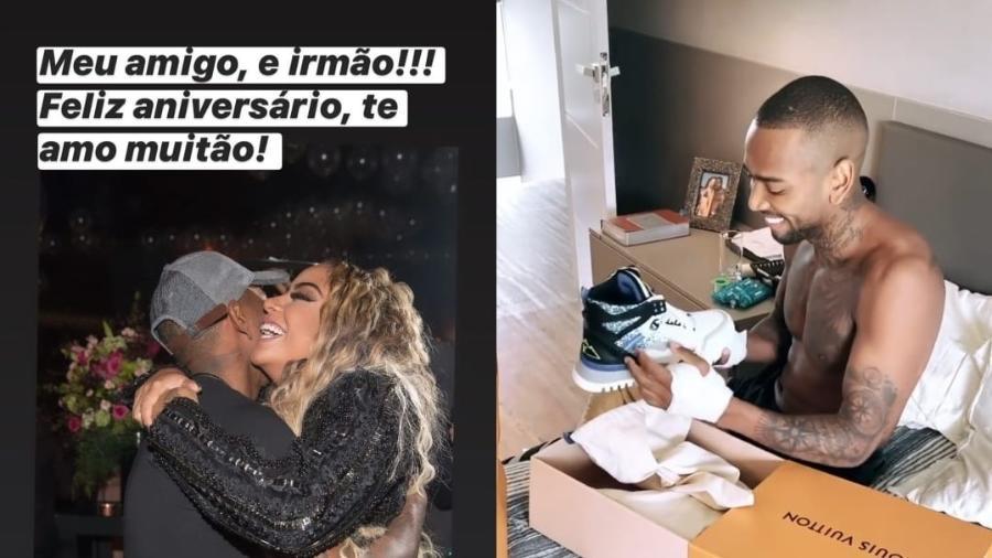 Nego do Borel recebe tênis de luxo de Rafaella Santos - Reprodução/Instagram
