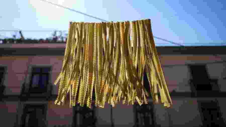 """Gragnano é conhecida como """"Città della Pasta"""", a Cidade das Massas - Reprodução Facebook Consorzio Gragnano Cittá Della Pasta"""
