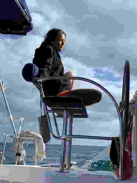 Bárbara curtindo a navegação pelo Caribe - Patricia Schussel Gomes - Patricia Schussel Gomes
