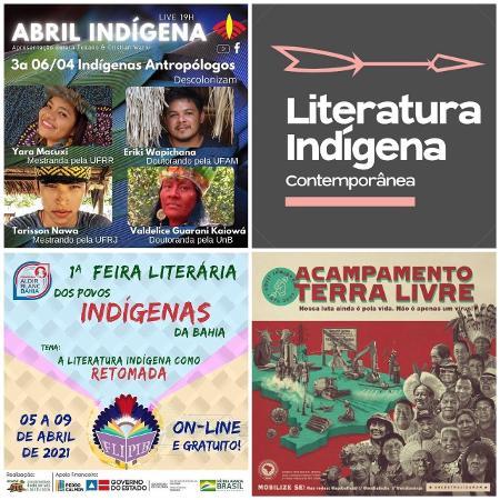 Eventos celebram o Abril Indígena - Montagem/Julie Dorrico