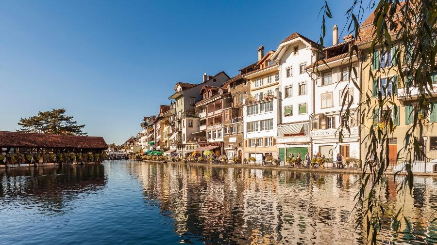 Thun, comuna da Suíça: restaurantes reabrem ao público - Getty Images/Westend61