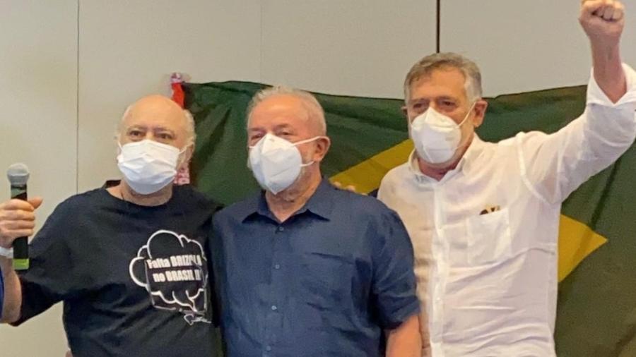 José de Abreu, Tonico Pereira e Lula - Reprodução Instagram