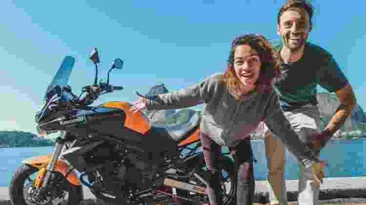 Atualmente, o casal está viajando de moto pelo Brasil - Acervo pessoal - Acervo pessoal