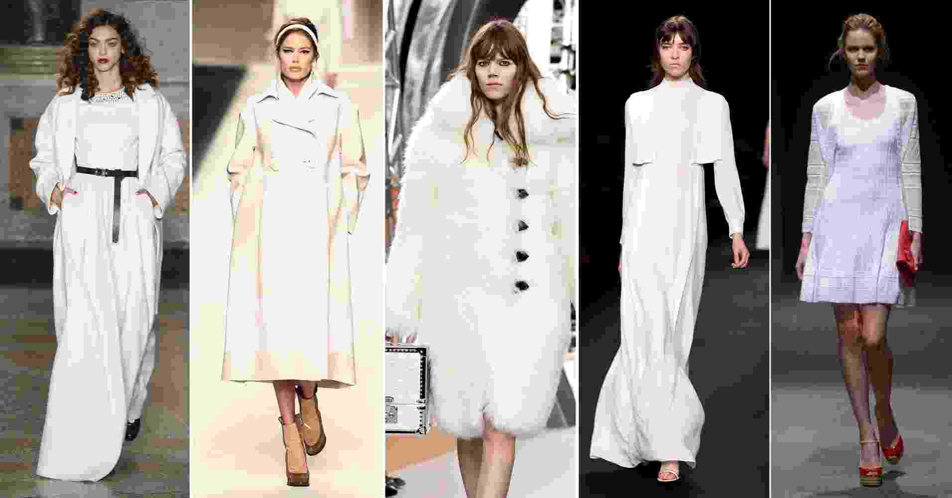 Abre - Moda - Look total branco no inverno - Getty Images/MontagemUOL