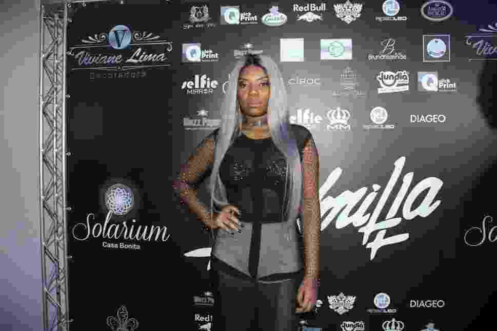 25.abr.2016 - Na noite desta segunda-feira, Ludmilla comemorou seu aniversário de 21 anos em uma casa de festas em Bangu, no Rio - Thyago Andrade /BrazilNews