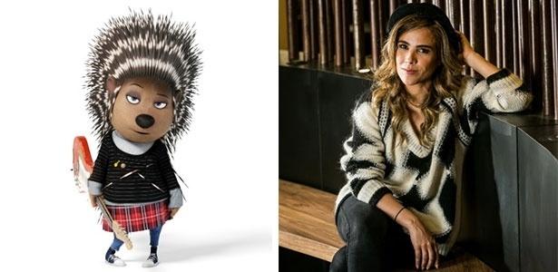 A cantora Wanessa Camargo dubla a porco-espinho Ash na versão brasileira da animação