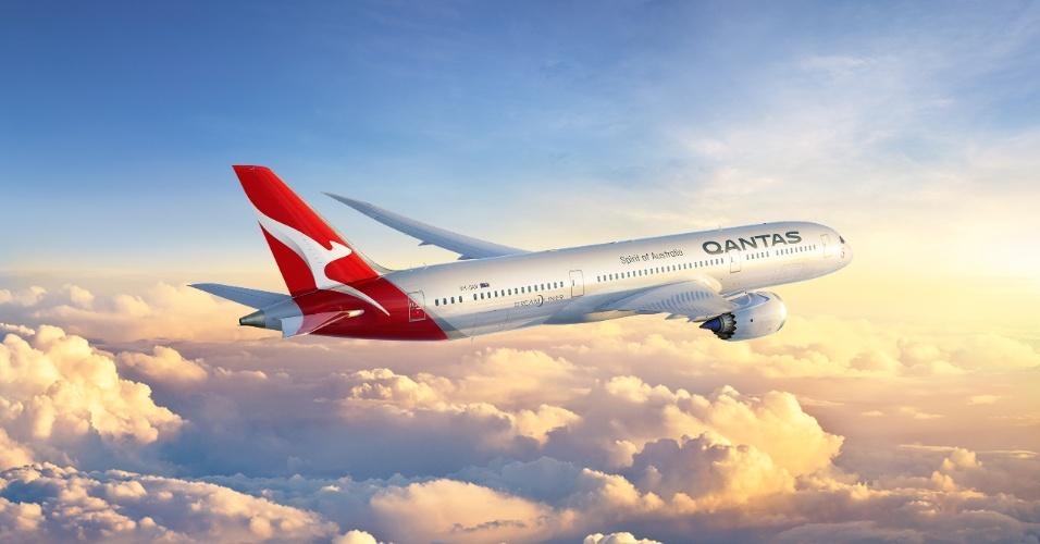 Avião da Qantas
