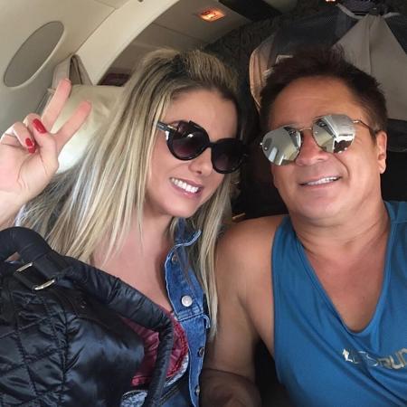 Leonardo se declara para a mulher, Poliana Rocha - Reprodução/Instagram/leonardo
