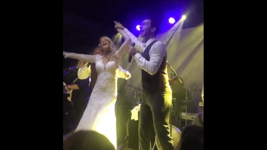 Ticiane e Tralli se divertem na festa de casamento - Reprodução/Instagram