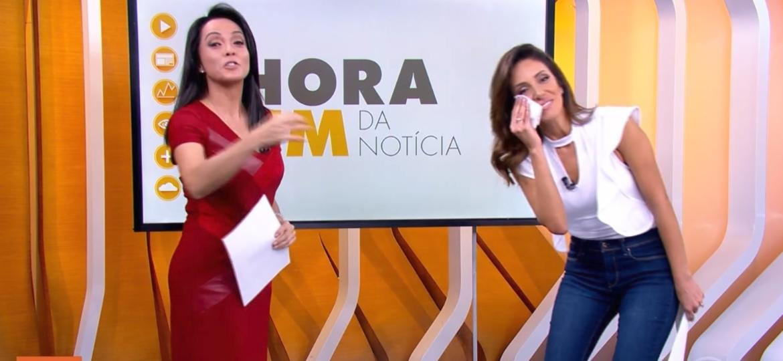 """Monalisa Perrone e Izabella Camargo comandam o """"Hora Um"""", da Globo - Reprodução/Globo"""