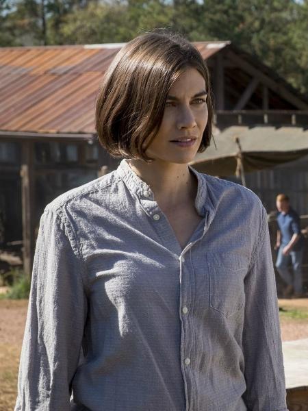 """Maggie (Lauren Cohan) em cena do último episódio da oitava temporada de """"The Walking Dead"""" - Divulgação"""