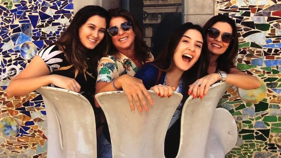 Fátima Bernardes está com as filhas em Barcelona - Instagram/Reprodução