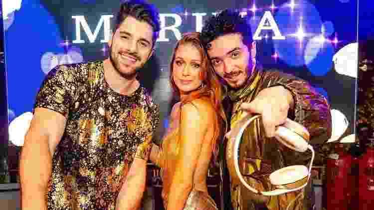 Alok, Marina e Felipe Mar - Reprodução/Instagram - Reprodução/Instagram