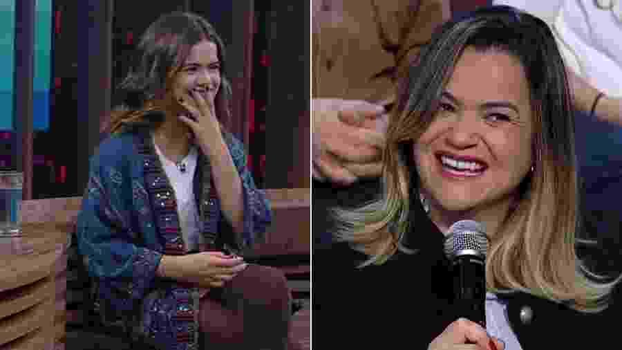 """Gislaine da Silva Andrade, mãe de Maisa, revela regras do namoro da filha no """"Conversa com Bial"""" - Montagem/UOL/Reprodução/TV Globo"""