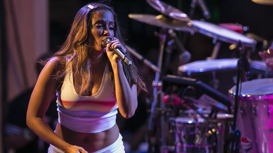 A cantora Anitta fez neste domingo (20) o primeiro ensaio do seu Bloco das Poderosas para o Carnaval 2019 - Bruna Prado/UOL