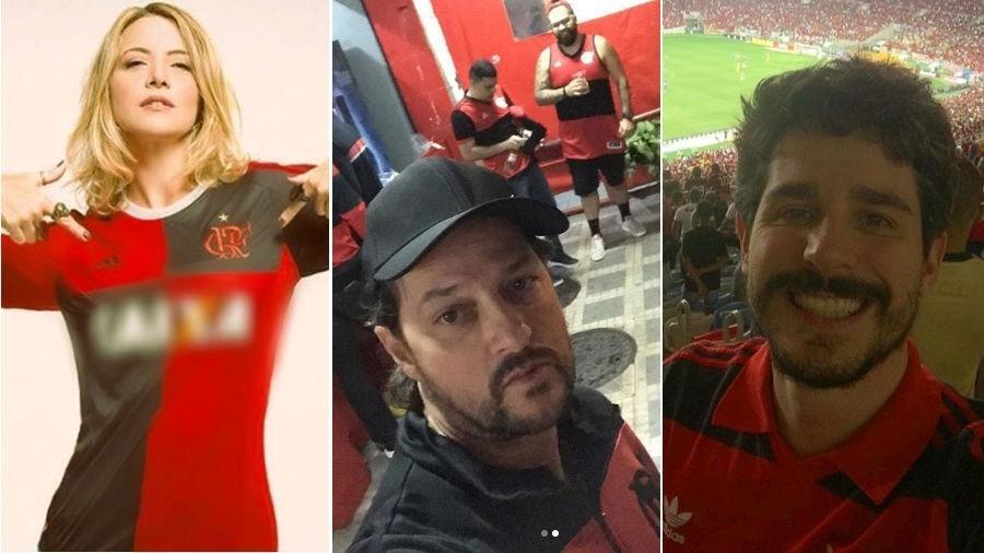 Os flamenguistas Christine Fernandes, Marcelo Serrado e Pedro Neschling  - Reprodução/Instagram