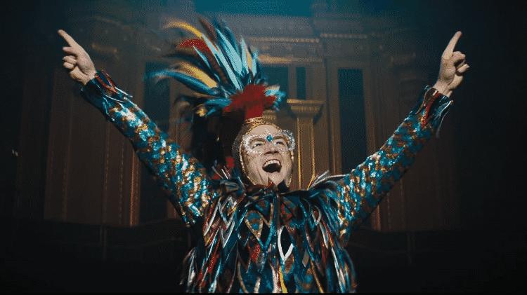 "Taron Egerton em ""Rocketman"" - Reprodução/YouTube - Reprodução/YouTube"