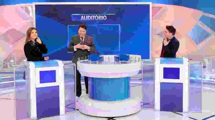 Maisa tenta explicar beijo técnico para Silvio - Reprodução/SBT