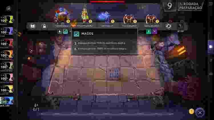 Dota Underlords - Interface - Reprodução - Reprodução