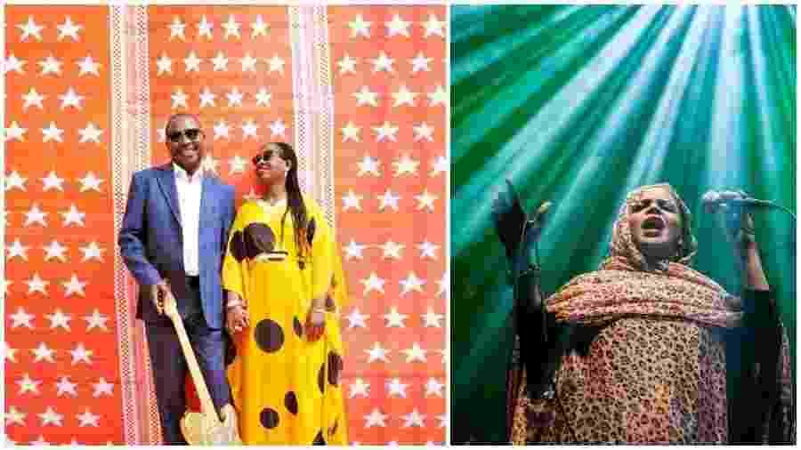 O casal do Mali Amadou & Mariam e a cantora Noura Mint Seymali se apresentam no Mimo São Paulo e Rio - Montagem