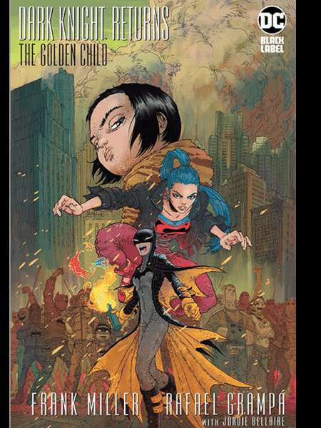 Uma das capas de Dark Knight Returns: The Golden Child, de Frank Miller e Rafael Grampá - Divulgação