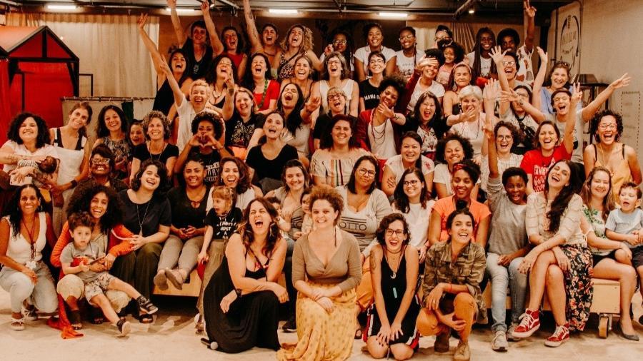 Grupo de mães em encontro da rede Maternativa - Luiza Rodrigues / Divulgação Maternativa