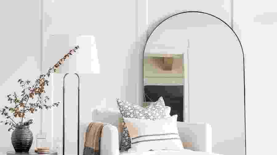 Decoração com espelho pode dar um toque a mais no visual da casa - Reprodução/Pinterest