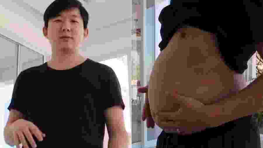 Pyong Lee, participante do BBB 20, mostra a barriga de quarentena - Reprodução/Instagram