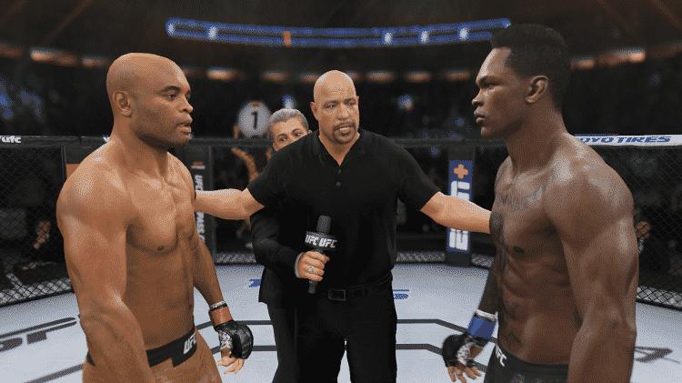 UFC 4 Anderson Silva Round 1 - Reprodução/Bruno Araujo - Reprodução/Bruno Araujo