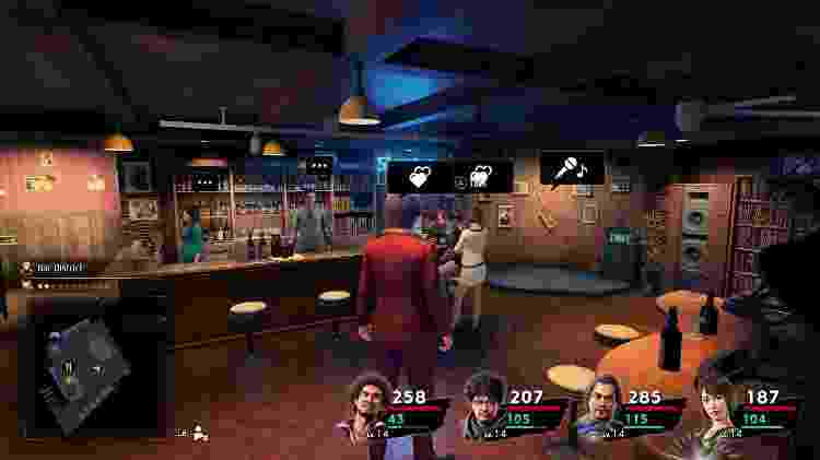 Yakuza Like a Dragon Bar - Daniel Esdras/GameHall - Daniel Esdras/GameHall
