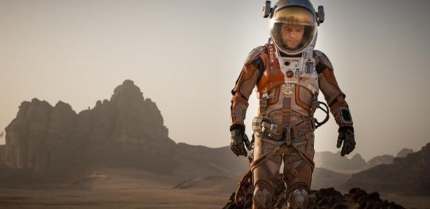 """Matt Damon ficou um tempo no planeta vermelho no filme de Ridley Scott """"Perdido em Marte"""""""