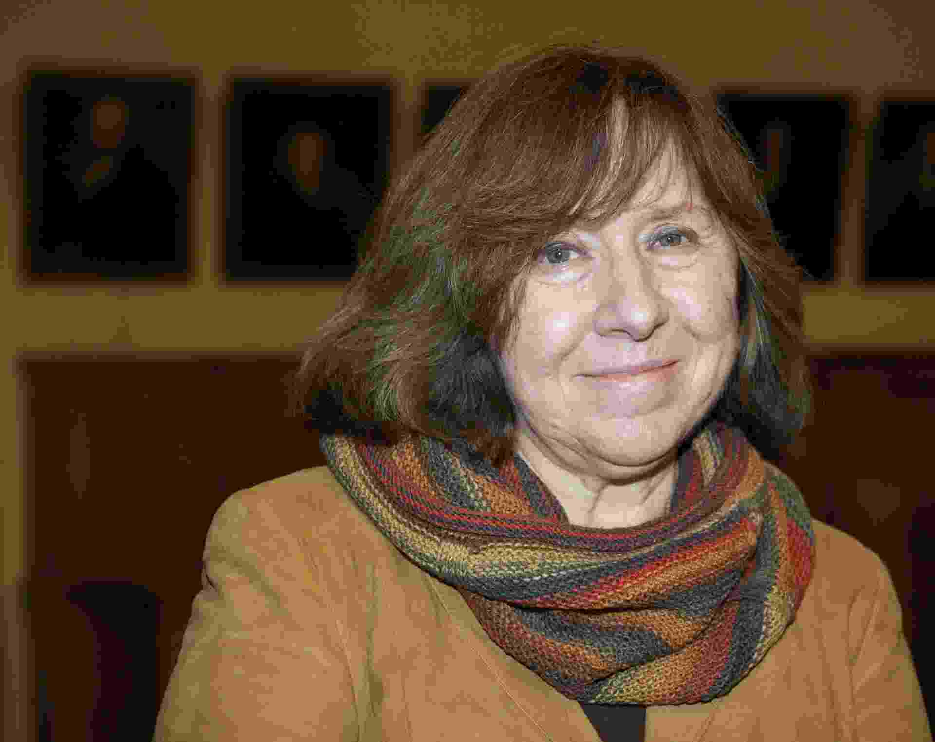 15.out.2013 - A bielorrusa Svetlana Alexievich em Leipzig, na Alemanha - Peter Endig/EFE