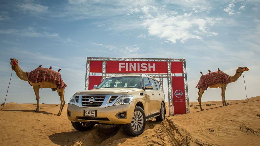 Quantos camelos de potência têm esse Patrol? Parece piada, mas é a ideia da Nissan - Divulgação