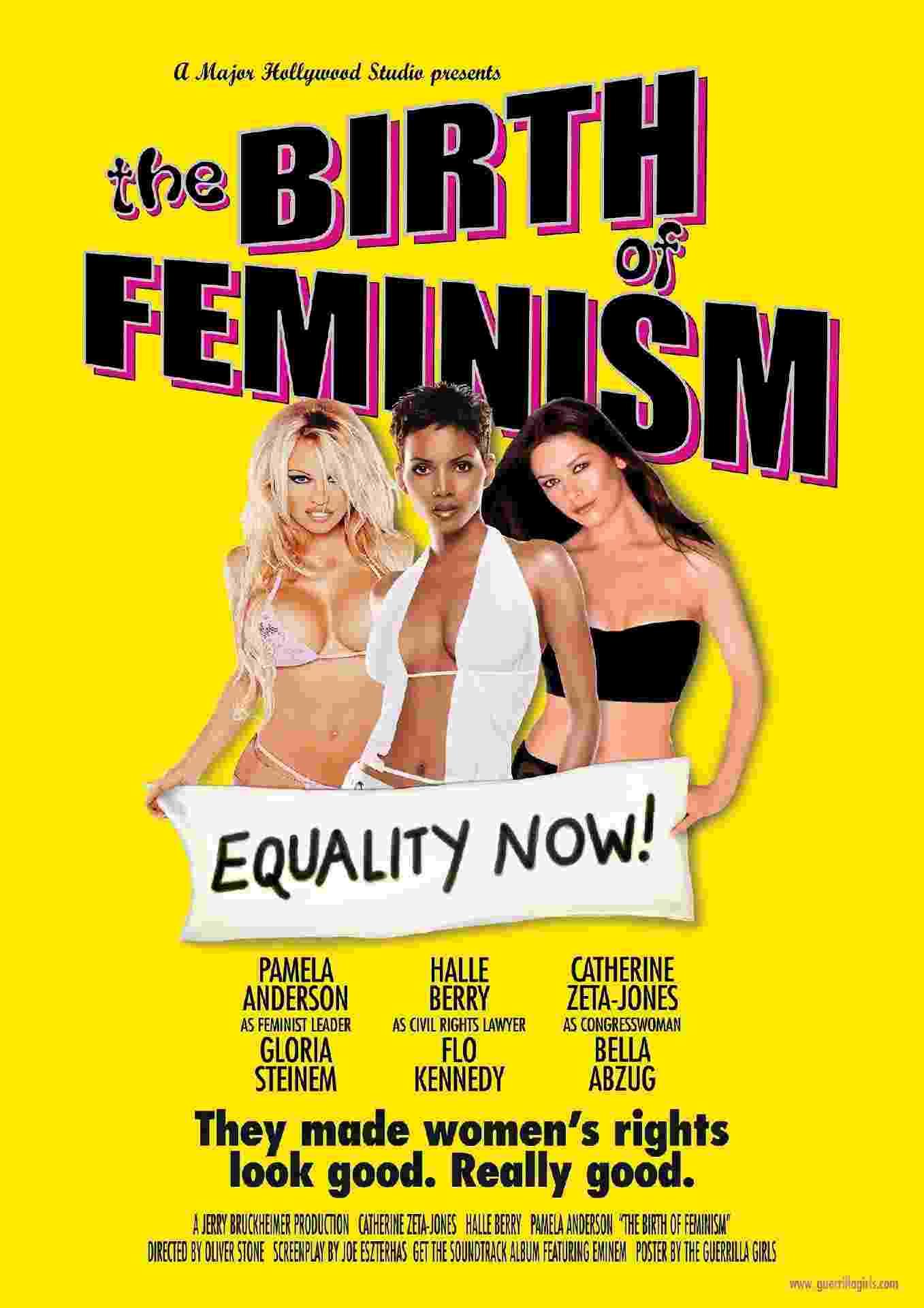 """Guerrilla Girls, Pôster de """"O Nascimento do Feminismo"""" (2001) - Guerrilla Girls"""